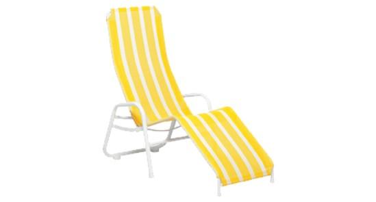 Liege Bermuda gelb-weiß gestreift ohne Hintergrund