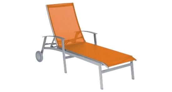 Rollliege California orange ohne Hintergrund