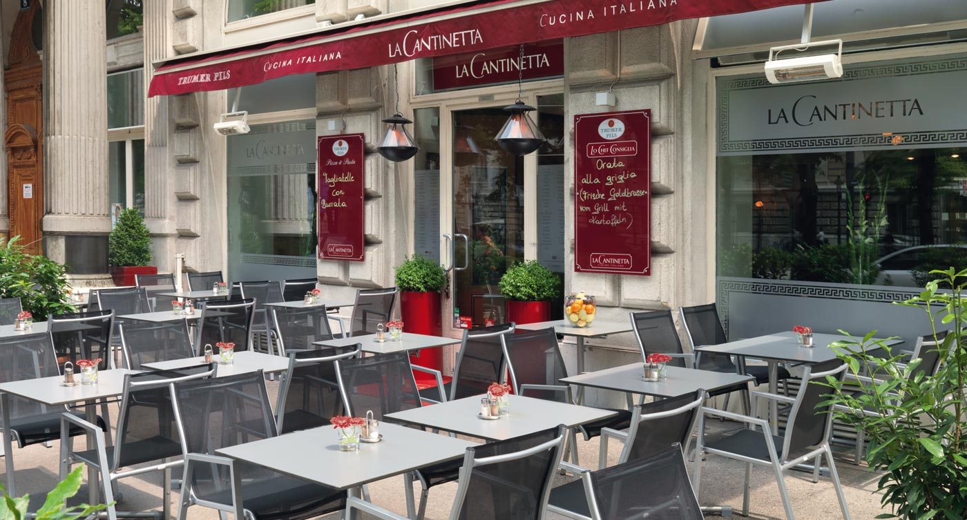 "Teakholz Gartenmobel Bank : httpwwwlandhausbacherat Restaurant ""La Cantinetta"" , Wien"