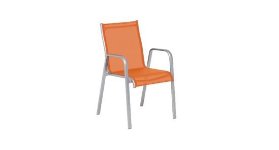 Lugano Gartenstuhl orange ohne Hintergrund