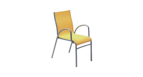 Padua Gartenstuhl gelb ohne Hintergrund
