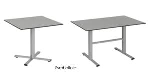 2 eckige Tische der Serie Manhattan ohne Hintergrund