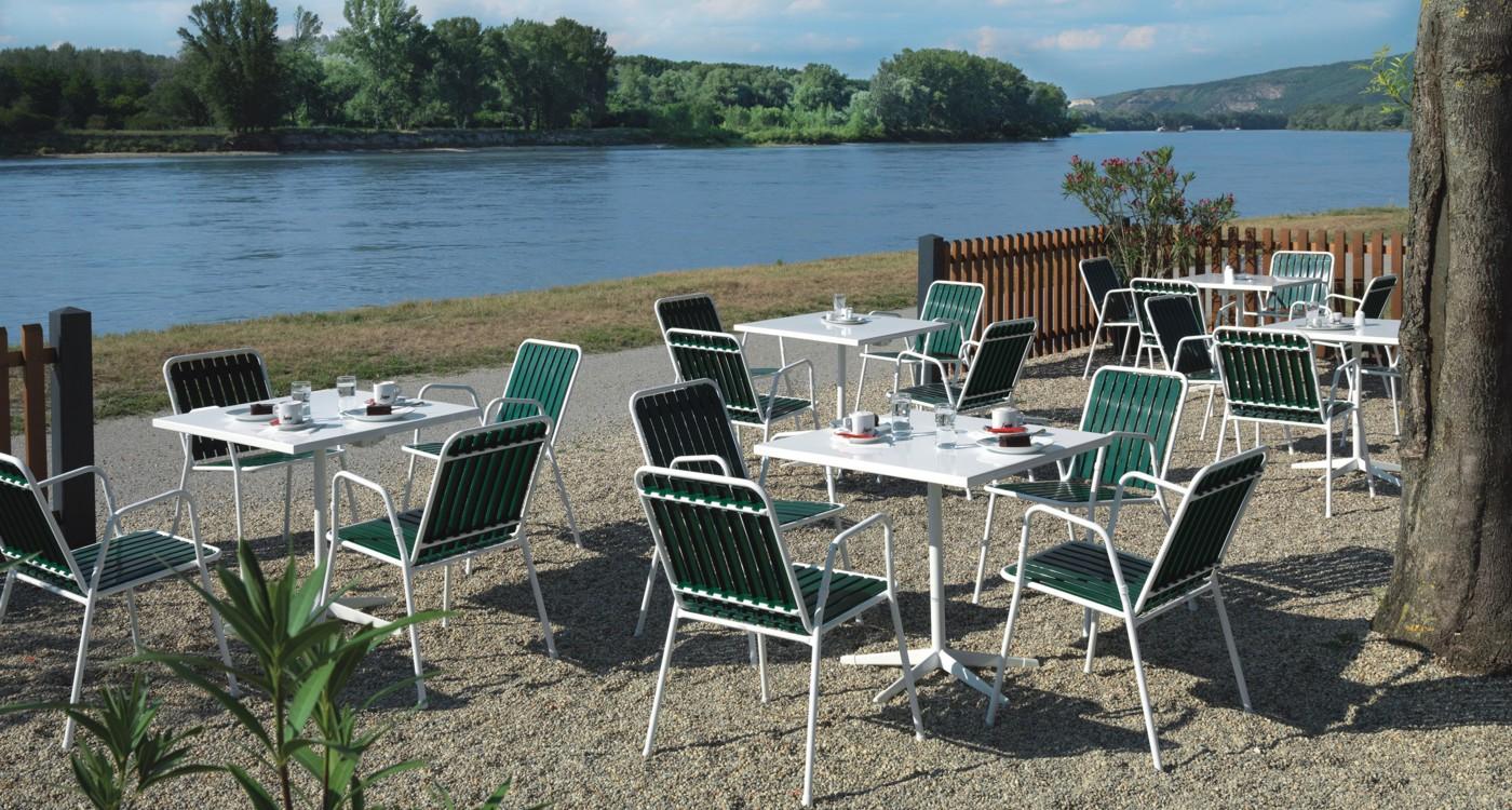 Gastrostuhl Bistro an der Donau