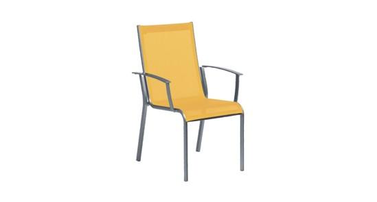 Gartenstuhl Monza orange ohne Hintergrund