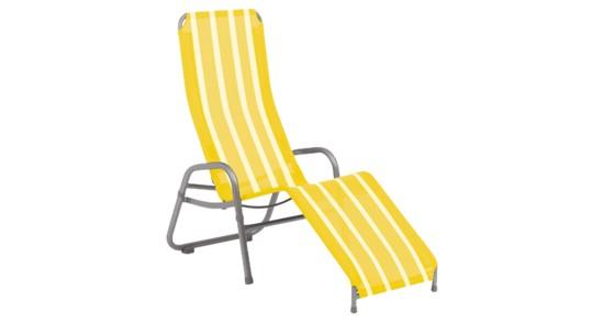 Kippliege gelb-weiß-gestreift