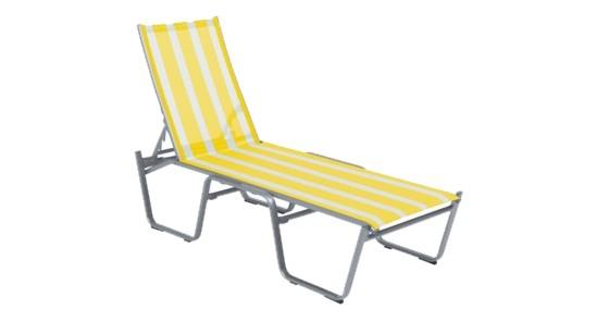 Bermuda Stapelliege gelb-weiß ohne Hintergrund