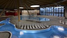 Weiße Wellnessliegen im Aquabasilea