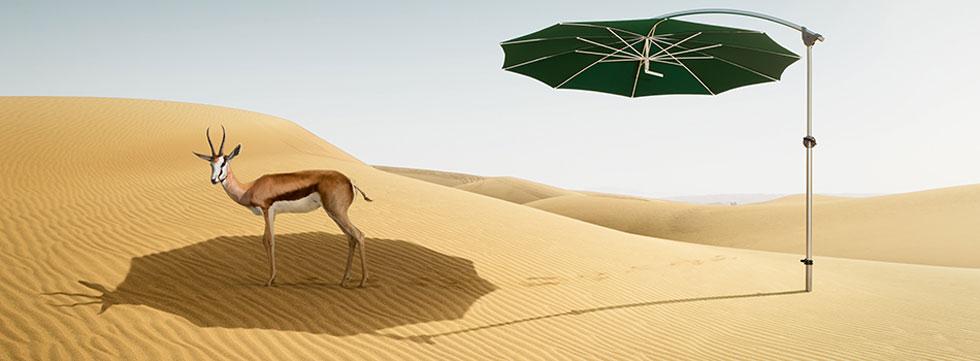 Sonnenschirm Pendalex Wüste mit Gazelle