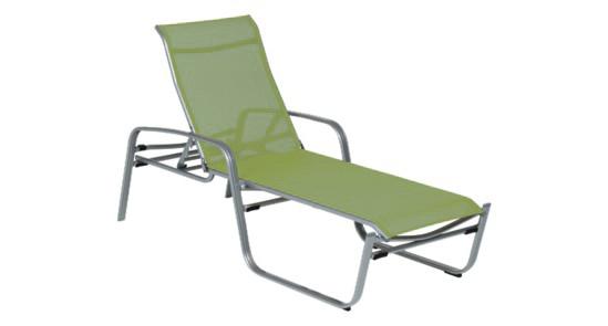 Sonnenliege grün silber Florida