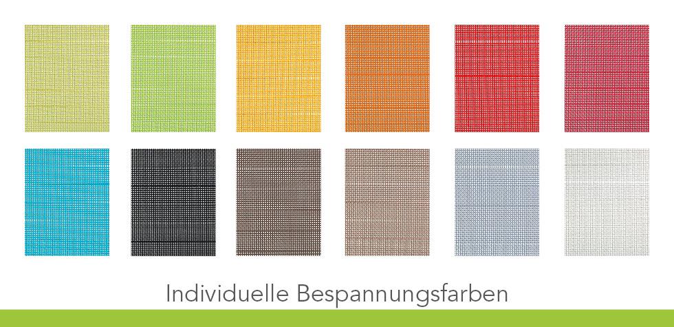 Farbmuster für individuelle Bespannungen