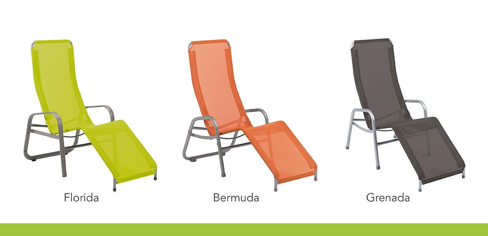 3 Kippliegen der Serien Florida, Bermuda und Grenada