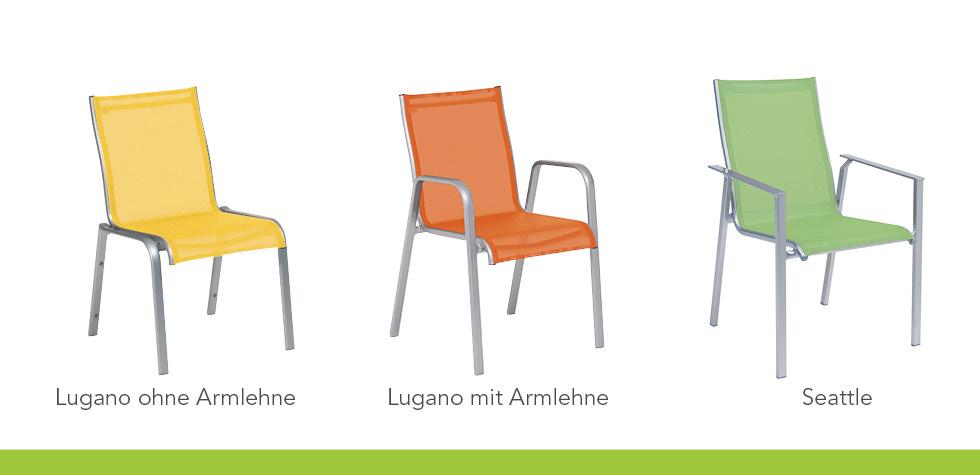 Care Line Sessel der Serien Lugano und Seattle