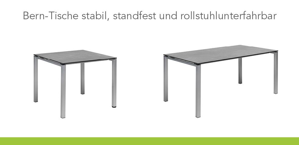 Rollstuhlunterfahrbare Tische der Care Serie Bern