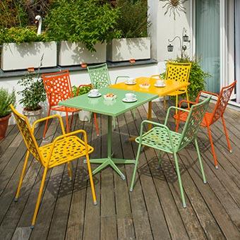 Gartenstühle Amsterdam orange, gelb, grün