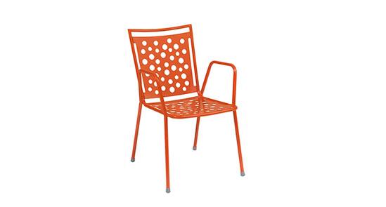 Gartenstuhl der Serie Kopenhagen in der Farbe Coralle