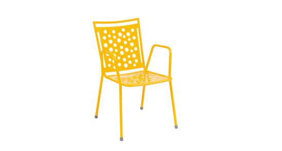 Gartenstuhl der Serie Kopenhagen in der Farbe Honig