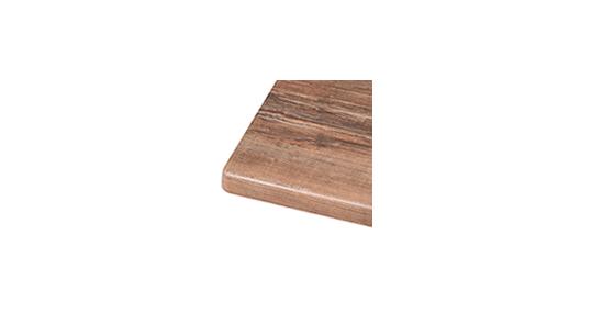 Muster Tischplatte Werzalit Kirsche ohne Hintergrund