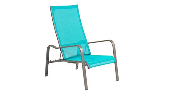Deckchair der Serie Barbados in der Farbe Türkis