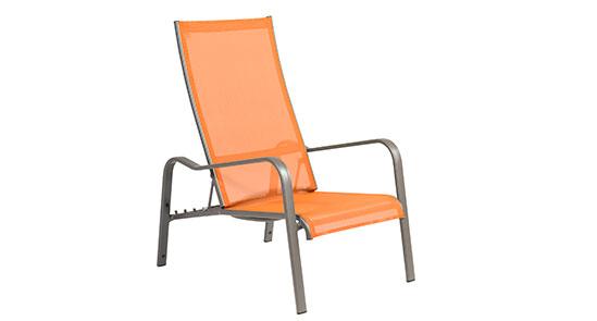 Deckchair der Serie Barbados in der Farbe Bernstein