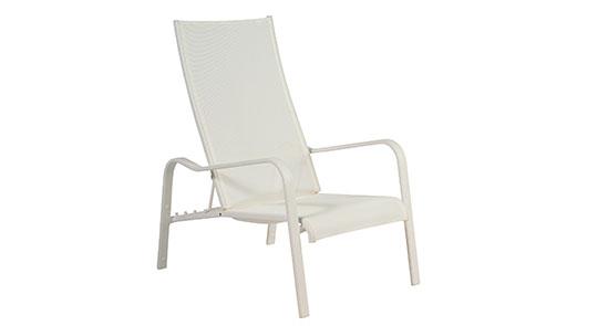 Deckchair der Serie Barbados in der Farbe Weiß