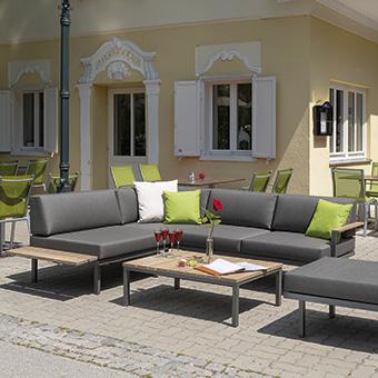 Loungegruppe Sylt Holz